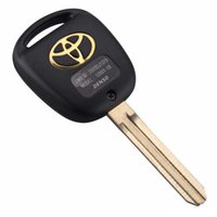Wholesale toyota camry key buttons - 2 Buttons Car Remote Key Shell Case Replacement For Car Toyota Corolla RAV4 Prado Yaris Camry With Button Pad