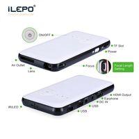 led tv videosu toptan satış-2018 Yeni LED mini Taşınabilir Video Pico Mikro Küçük Mini Projektör Android 7.1 LED Mini Projektör Ev Sinema Desteği AV TV VGA HDMI