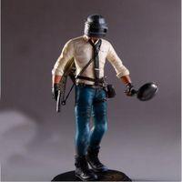 Wholesale Statue Action Figure - New PUBG Playerunknown's Battlegrounds 17cm Action Figure Statue Pan PC Key PVC Kids Game Model Toy DDA298