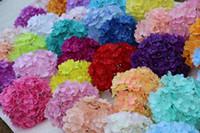 artificial flowers arrangements großhandel-27 Blütenblätter Blumen Heads künstliche Seide Hortensie Bouquet gefälschte Blumen Anordnung Startseite Hochzeit Dekor 37 Farbe wählen