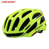 cycling helmet cover NZ - SONICWORKS Bicycle Helmet Cover With LED Lights MTB Mountain Road Cycling Bike Helmet Men Women Capaceta Da Bicicleta SW0002 Y1892908