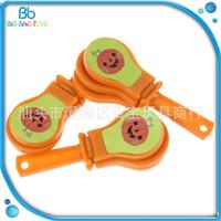Wholesale clapper toy online - Cute Clicker Sound Maker Chick Chicken Hen Party Toy Plastic Pumpkin Pattern Sound Clappers Children Gift bb C