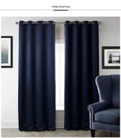 Wholesale curtain blue living room for sale - Group buy W100xL200cm Blackout Curtains For Window Treatment Blinds Finished Drapes Window Blackout Curtain For Living Room The Bedroom Blinds