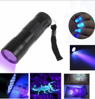 Wholesale light lamp fake for sale - Group buy Hot sale LED UV Flashlight Ultra Violet Camp Lamp Torch Anti fake UV Flash Light mini led nail flashlights torches