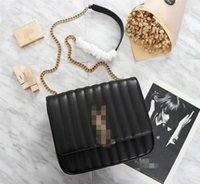 mejores marcas de bolsos de cuero de calidad al por mayor-Mejor venta de marca de lujo diseñador de las señoras flip bag 2019 de alta calidad bolso de la cadena de moda bolso de hombro de cuero Messenger bag
