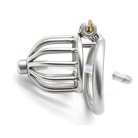 Wholesale small chastity plug - New chastity devices male cock cages chastity device penis plug new small male chastity device with urethral catheter BDSM stainless steel