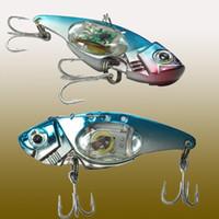 luces de pesca submarina al por mayor-Señuelos de pesca LED Flash LED Light Spoon Bass Muti Colors Halibut Flasher Trolling de agua salada Deep Drop Pesca Underwater Night