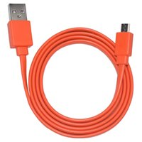 Wholesale Power Line Supplies - Flat Charging Power Supply Cable Cord Line for JBL Bluetooth Speaker Orange