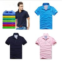Wholesale toy crocodiles - 2018 New Luxury Brand embroidery Big small Horse crocodile toy t shirts for men Fashion polo shirt men polo shirt