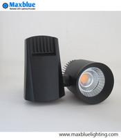 Wholesale Small Led Spotlights - 100LM W LED Track Lighting 30W CREE COB 230V 240V LED Rail Ceiling Spotlight Track Lamp for Small Narrow Space as Shop Light