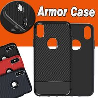 Wholesale Ultimate Protection - Armor Hybrid Carbon Fiber Shockproof The Ultimate Experience Protection Soft TPU Slim Cover Case For iPhone X 8 7 Plus 6S Samsung S8 Note 8