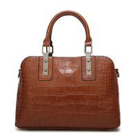 messenger bags großhandel-Neue Frauen Tasche Hochwertige Leder Retro Frauen Handtaschen Crocodile paern einfache Schulter Messenger Bags Querschnitt Handtasche