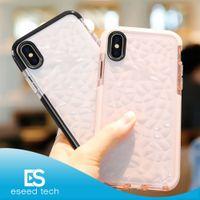 bling casing toptan satış-2019 için YENI Iphone 11 XR XS MAX X Durumda Yüksek Kaliteli Yumuşak Silikon Darbeye Kapak Koruyucu Kristal Bling Glitter Kauçuk TPU Temizle ...