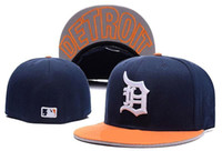 Wholesale Fitted Caps For Cheap - Good Design New Detroit Fitted Baseball sports Hats For men and women High quality Mix order cheap wholesale hat provide cap album