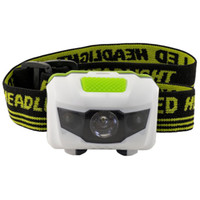 Wholesale AAA battery powered Mode headlamp Waterproof LED Headlight Flashlight white red light Head lamp Outdoor camping hilking Torch light