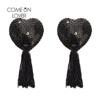 Wholesale Bare Lift - NC036 Sexy Lingerie Bare Lift Women Sexy Self Adhesive Sequin Tassel Cover Heart Shape Bra Nipple Cover Pasties Breast Petals