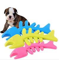 Wholesale fragrance sales - 2018 Hot sale Rubber fragrance Fish bone for Pet Toys Dog Cat Puppy Chew Toys Pet Shop Drop Shipping