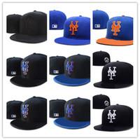 Wholesale new york hip hop caps - High Quality New York Mets Fitted Hats for men women sports hip hop mens bones cap