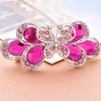 Clip de cabello con color de mariposa rosa