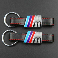 Wholesale Leather Key Chain Car Logo - Automobile Logo Key Chain Keyring Keychain Leather For    M R Key Holder Car styling for All Brands Available