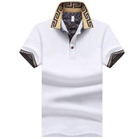 modedesigner beiläufige hemdmänner großhandel-Mens New Umlegekragen Polos Fashion Designer Shirts Sommer Casual Tops Für Männer