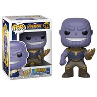 Wholesale marvel comics gifts - Funko Pop Marvel Comics Avengers 3: Infinity War Thanos Vinyl Action Figure with Box #289Toy Gift