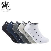 фирменные летние носки оптовых-PIERPOLO New Design High Quality Fashion  Happy Socks Men Cotton Socks Meia Men Socks Short Summer Socks For Men calcetines