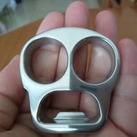 gespiegelte flaschen großhandel-Edelstahl EDC Handemade Tiger Finger / Punch / Knuckle Duster Flaschenöffner 62mm * 60mm * 14mm Spiegel poliert Oberflächenbehandlung 140g / St