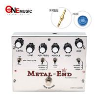 biyang effets pédales achat en gros de-Biyang Tonefancier Metal End King Distorsion Pédale d'effet guitare électrique True Bypass Design avec connecteur de pédale d'or