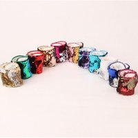 Wholesale Mermaid Sequin Bracelet Wristband Cuff Sequins Bracelets Women Charm Jewelry Girl Wedding Favors Mermaid Bracelet Wristband Bangle