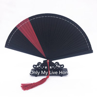 Wholesale Japanese Fans For Weddings - Mini Bamboo Hand Fan Tassel Pure all bamboo Patchwork Portable Japanese Fan Ladies Folding Fans for Wedding Gift Fan Decoration