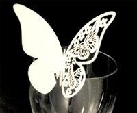 formes de cartes papillon achat en gros de-Bricolage Papillon Place Carte Cartes De Mariage Party Home Decor Insérer Carte Avec Mix Couleur Creux En Coupe Eco Friendly 0 23dj jj