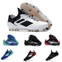 Wholesale tangos shoes online - New Top Copa Tango FG mens soccer shoes soft spike football shoes Black White Sports soccer cleats Sneakers Size
