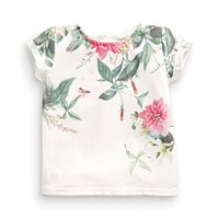 Wholesale classic girl painting for sale - Group buy Little Maven New Summer Kids Clothing Short O Neck Chinese Floral Painting Printed Tee Knitted Cotton Girls Casual Tshirt