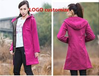 Wholesale warm waterproof jacket women - Women Outdoor Sports Long Jackets Keep Warm Autumn7Winter Windproof Waterproof Hikking Ladies Girls Warm Softshell U&N Plush Size Hoodies