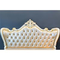 Wholesale baroque bedding resale online - baroque bed headboard tufted bed photography backdrop thin vinyl photo studio background wallpaper F