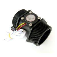 interruptor del sensor de flujo de agua al por mayor-Freeshipping sensor de flujo de agua DN50 3-24 V 2,0 pulgadas 10-200L / min Diámetro de la turbina del medidor de flujo Hall Sensor Medidor de flujo Contador de cambio