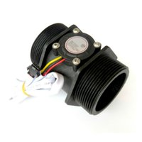 wasser-flow-sensor-schalter großhandel-Freeshipping Wasserdurchflusssensor DN50 3-24 V 2,0 Zoll 10-200L / min Durchmesser Turbine Durchflussmesser Hall Sensor Durchflussmesser Schalter Zähler