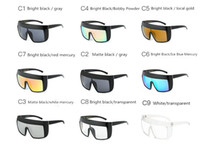 Wholesale United Plastic - 2018 Europe and the United States fashion trend reflective sunglasses over sized frame sunglasses Wind and sand prevention