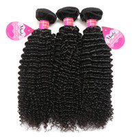 Wholesale afro hair weave - 8A Brazilian Curly Hair 3 Bundles Unprocessed Virgin Afro Kinkys Curly Human Hair Extensions Natural Color Free Shipping