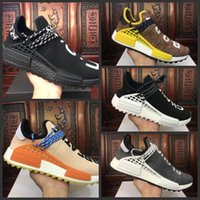 Wholesale Network Shoes - High Quality Pharrell Williams Hu NMD_TR NMD HUMAN RACE Joint Mens Womens Running Shoes Sports Network Men Sneakers Casual shoes Size 36-45
