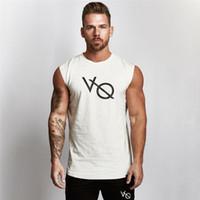 ingrosso maglietta di estate degli uomini-T-shirt da uomo senza maniche T-shirt da uomo estate T-shirt da uomo Bodybuilding Canotta Fitness casual T-shirt