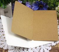 Wholesale blank postcards - Wholesale- 10PCS Lot Students DIY Blank postcards Vintage Blank series Kraft paper DIY postcardGreeting CardGift Card brown white black