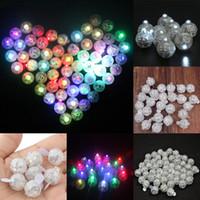 suministros para globos al por mayor-Luz LED Globo Mini Forma Redonda Luz Brillante Linterna de Papel Cumpleaños Boda Barra de Navidad Decoración Del Partido Suministros WX9-708