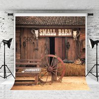 Wholesale barn doors online - Dream x7ft x220cm Small Barn Background Red Wood Door for Baby Photo Studio Props Photographer Cowboys Photography Backdrops