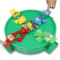cuentas de rana al por mayor-Juguetes de inteligencia clásicos Montessori Crazy Feeding Small Frog Swallowing Beads Eating Beans Casual Brain Board Intelligence Parent-child