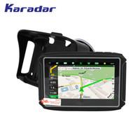 Wholesale waterproof motorcycle gps - KARADAR Waterproof Motorcycle GPS - 4.3 Inch Win CE 6.0 Car GPS Navigator - Built-in 8GB Flash DDR256 with Map-FM Bluetooth