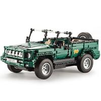 Wholesale rc cars nitro - RC Toy Military Parade MOC Amry Series Set Building Blocks Bricks Gift Remote Control Car 2.4G Genuine Child Educational 107jg V