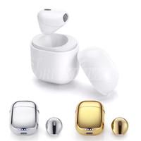 Wholesale Wireless Bluetooth Earplug - IP8 Super Mini Wireless Bluetooth Earphone Earbud Stereo Single Ear Headphone with Charge Box Portable Stealth Earplug for Iphone Samsung