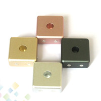 Wholesale holder for e cigarette for sale - Group buy Magnetic Atomizer Metal Base Display Aluminum Holder Strong Magnet Stand for Atomizers E Cigarette No Screw thread DHL Free